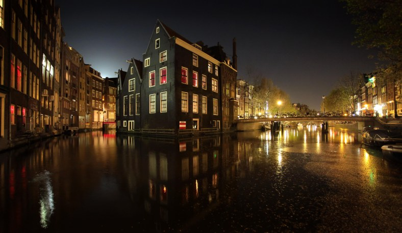 Moonrise over the Red Light District