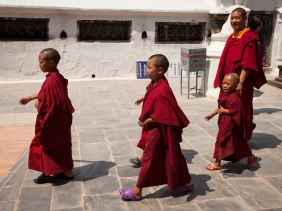 Monks in Crocs