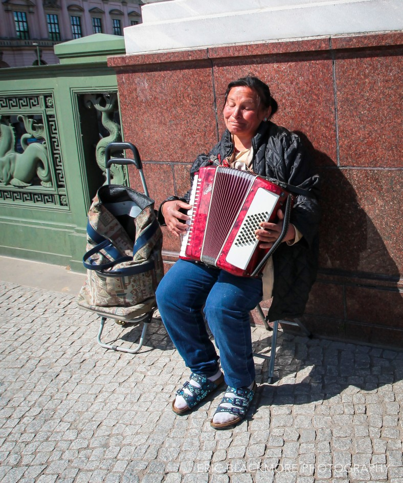 Accordian player in Berlin