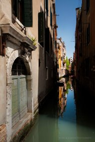 A small side canal in Venice