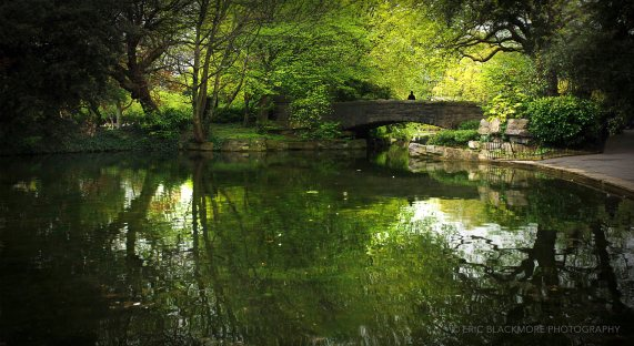 The O'Connell Bridge in St. Stephens Green, Dublin